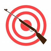 Weapon And Target. Shooting Gallery In An Amusement Park.amusement Park Single Icon In Colour Style  poster