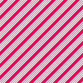Thick White & Hot Pink Diagonal Stripe Paper
