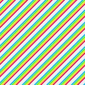 Colorful Brights Diagonal Stripe Paper
