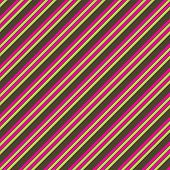 Pink Lime & Brown Diagonal Stripe Paper