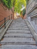 Stairs At Buda Hill Castle, Budapest, Europe poster