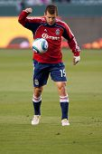 CARSON, CA. - APRIL 9: Chivas USA F Alejandro Moreno #15  during the MLS game between Columbus Crew