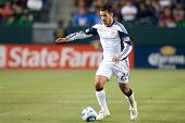 CARSON, CA. - APRIL 30: New England Revolution M Benny Feilhaber #22 during the MLS game on April 30