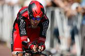 LOS ANGELES - MAY 22: George Hincapie of team BMC during stage 7 of the Amgen Tour of California on