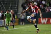 CARSON, CA. - AUG 14: Chivas USA F (16) ALAN GORDON during the Chivas USA vs Seattle Sounders game o