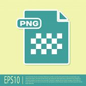 Green Png File Document. Download Png Button Icon Isolated On Yellow Background. Png File Symbol. Ve poster