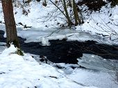 A Creek In Winter In The Eifel poster