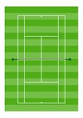 Tennis Court - Grass Surface - Overhead View