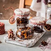 Christmas Fruit Mince In Jars, British Mincemeat, Square poster