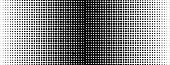 Vintage Linear With Halftone. Abstract Halftone Texture. Round Abstract Geometric Linear Pattern. Ab poster