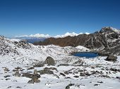 View From The Laurebina Mountain Pass, Nepal