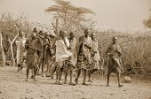 African men from Masai tribe
