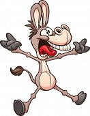 stock photo of mule  - Crazy donkey or mule - JPG