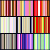 set of vertical striped patterns