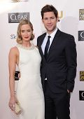 LOS ANGELES - JAN 10:  Emily Blunt & John Krasinski arrives to the