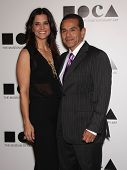LOS ANGELES - NOV 12:  ANTONIO VILLARAIGOSA & DATE arriving to MOCA Annual Gala 2011  on November 12