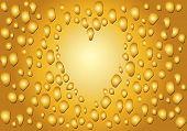 Gold  Romantic Drop Heart