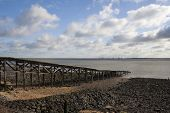 Old Wooden Jetty On Canvey Island, Essex, England