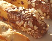 Chocolate-Dipped Macadamia Biscotti