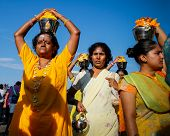 KUALA LUMPUR - JANUARY 27: Hindu devotees carry milk pots or 'pal kodum' as offering to Lord Muruga