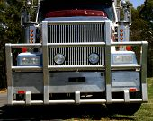 foto of monster-truck  - A closeup of a monster haulage truck front cab - JPG