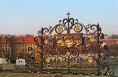 Decorative Lattice On The Charles Bridge, Prague, Czech Republic
