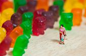stock photo of gummy bear  - Gummi bear invasion - JPG