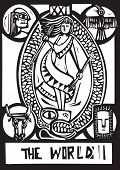 World Tarot Card