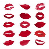 Vector Set Of Lips