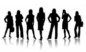 foto of person silhouette  - Team of business people on a white background - JPG