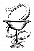 Pharmacy Snake And Cup Medical Symbol