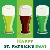 "stock photo of guinness  - ""Happy Saint Patrick"