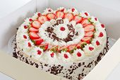 Strawberry Cake In A Box