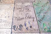 Handprints Of Eddy Nelson In Hollywood Boulevard