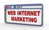 3D Concept Of Web Internet Marketing