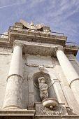 Porta Felice architectural detail, Palermo, Sicily