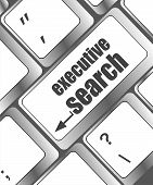 Executive Search Button On The Keyboard Close-up