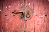 Old Wooden Door With Knocker