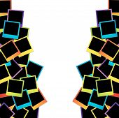 Frame artwork- colorful photo frames