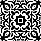 Abstract Seamless Pattern in Mehndi Style