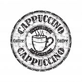 Cappuccino grunge rubber stamp