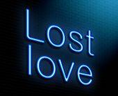 Lost Love Concept.