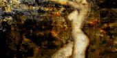 Female Nude Grunge Background Illustration