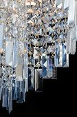 Contemporary glass chandelier fragment