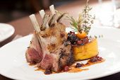 foto of christmas meal  - Lamb Chops - JPG