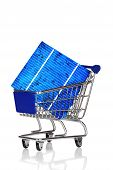Shopping Cart With Solar Cell