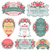 picture of floral bouquet  - Vector set - JPG