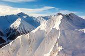 Fantastic winter landscape and blue sky. Austria, Europe. Beauty world.