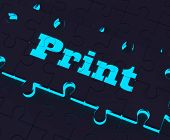 Print Key Shows Printer Printing Copying Or Printout