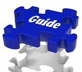 Guide Puzzle Shows Expertise Consulting Instructions Guideline And Guiding